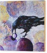 Violet-velvet Lining Wood Print