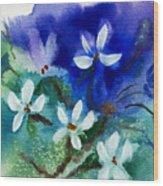Violets 2 Wood Print