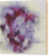 Violets Abstract Wood Print