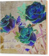 Violets Are Red- Roses Are Blue Wood Print