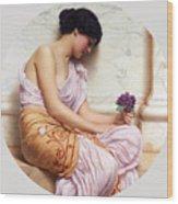 Violets Sweet Violets Wood Print