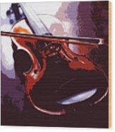 Violin Artistic Wood Print