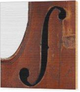 Violin Clef Wood Print