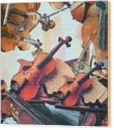 Violin Concierto Wood Print