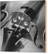 Violin Wood Print by Danielle Donders - Mothership Photography