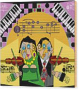 Violin Duets Wood Print