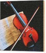 Violin Impression Wood Print