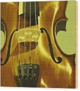 Violin In Yellow Wood Print