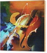 Violin Painting Art 51 Wood Print