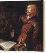 Violin Player 1653 Wood Print