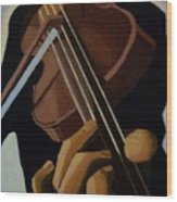 Violin Player Wood Print