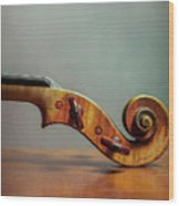 Violin Scroll Wood Print