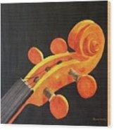 Violin Scroll Wood Print