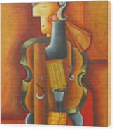 Violin Time Wood Print