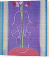 Violin Vase Wood Print