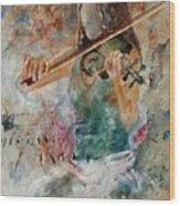 Violinist 56 Wood Print