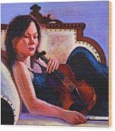 Violino Wood Print