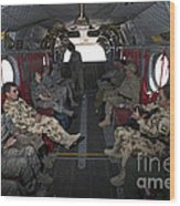 Vips In A Ch-47 Chinook Helicopter Wood Print