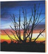 Virden Road Sunset Wood Print