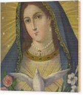 Virgen De La Paloma Wood Print