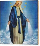 Virgen Milagrosa Wood Print by Bibi Romer