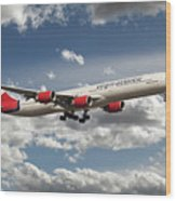 Virgin Airbus A340 G-vgas Wood Print