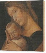 Virgin And Child 1470 Wood Print