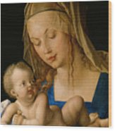 Virgin And Child With A Pear Wood Print