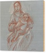 Virgin And Mary Wood Print