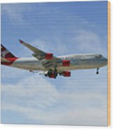 Virgin Atlantic Boeing 747-443 Wood Print