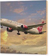Virgin Atlantic Boeing 787 Dreamliner Wood Print
