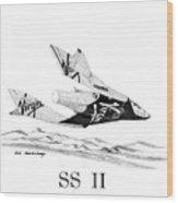 Virgin Galactic Vehicle. Space Ship Two Wood Print