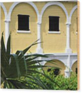 Virgin Island Architecture Wood Print