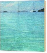 Virgin Islands Blues Wood Print