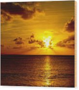 Virgin Islands Sunset Wood Print