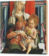 Virgin Mary And Child Wood Print by Carlo Crivelli