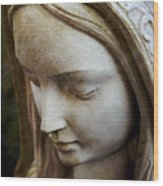 Virgin Mary Wood Print