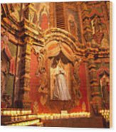 Virgin Mary Statue Candles Mission San Xavier Del Bac Wood Print