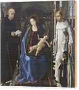 Virgin Of The Knight Of Montesa  Wood Print