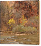 Virgin River At The Narrows Wood Print