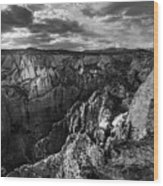 Virgin River Canyon, Zion National Park Wood Print
