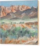 Virgin River Gorge Wood Print