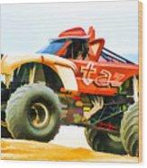 Virginia Beach Monster Truck Rally Wood Print