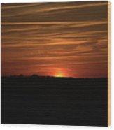 Virginia Beach Sunset Wood Print