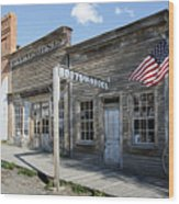 Virginia City Ghost Town - Montana Wood Print by Daniel Hagerman