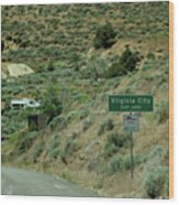 Virginia City Named After Henry Comstock Wood Print