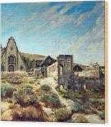 Virginia City Nevada II Wood Print by Evelyne Boynton Grierson