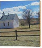Virginia Dale Church Wood Print
