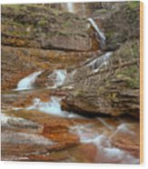 Virginia Fall Glacier Cascades Wood Print