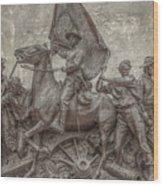 Virginia Monument Gettysburg Battlefield Wood Print